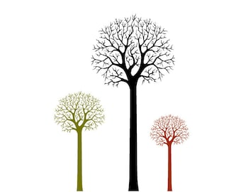 Inkbrush Tree Clipart AI Design Elements Digital Instant Download Ink Brush Tree Branch Clipart Tree Silhouette PNG /& EPS Tree Clip Art