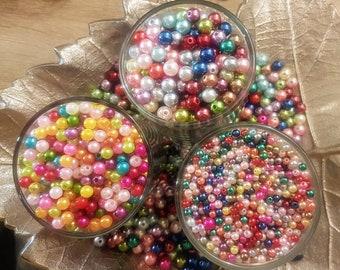 Kid Crafts DIY Acrylic Beads Beads Blue Swirl Beads