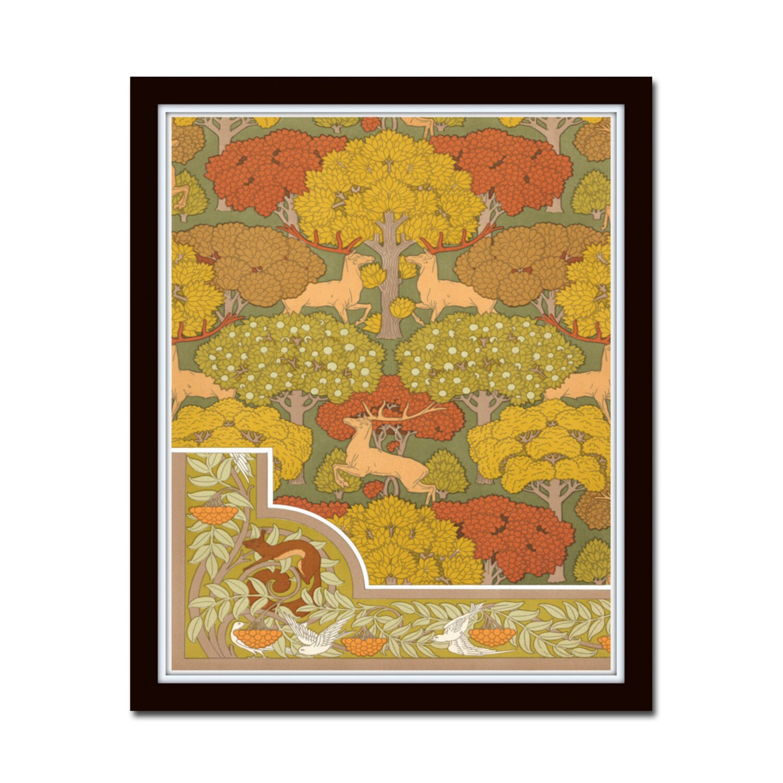 Art Nouveau Forest Poster No. 16 Wall Art Art Print | Etsy