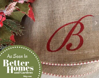 Christmas Tree Skirt, Burlap Christmas Tree Skirt, NOW ACCEPTING PREORDERS 2021, Large, Farmhouse Tree Skirt, Limited Quantity, Fully Lined