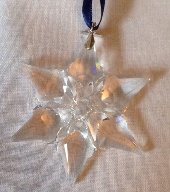 b3c353bc6313 Items similar to Swarovski 2000 Annual Christmas Snowflake   Star Ornament  walg06 on Etsy