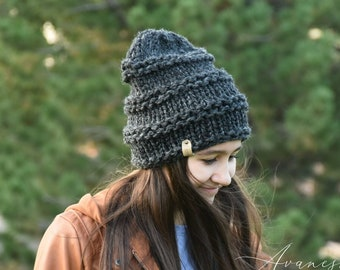 ALL SIZES Knitted Winter Woolen Woman Girls Slouchy Hat Beanie | The OASBY