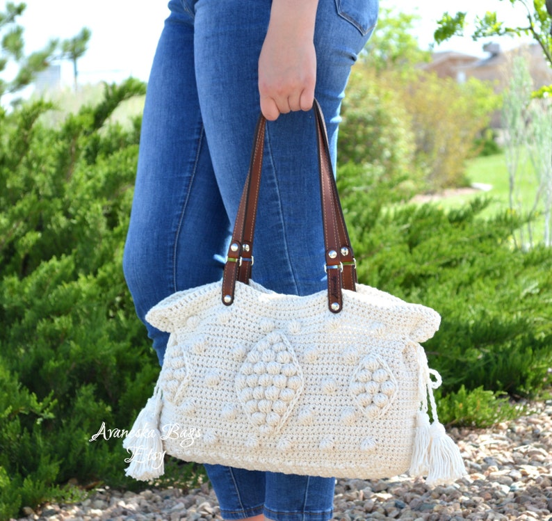 c2b8ff19ea Gerard Darel Dublin 24 Hour Inspired Crochet Handbag with | Etsy