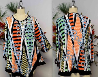 New Dare2bstylish Designer, Asymmetrical Tunic,  women tunic , Printed Tunic for Travel and Much More. M to 3XL