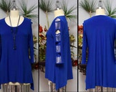 Artsy Tunic, Hi low Tunic, Rhinstone work Tunic, Cold shoulder tunic,Party wear, Plus size Tunic, Rhinstone work, Cut out Sleevs. S to 3XL