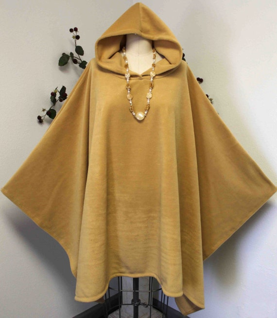 New Absolutely Versatile Travelers Full Size Hooded Poncho Fleece FITS UPTO 5XL