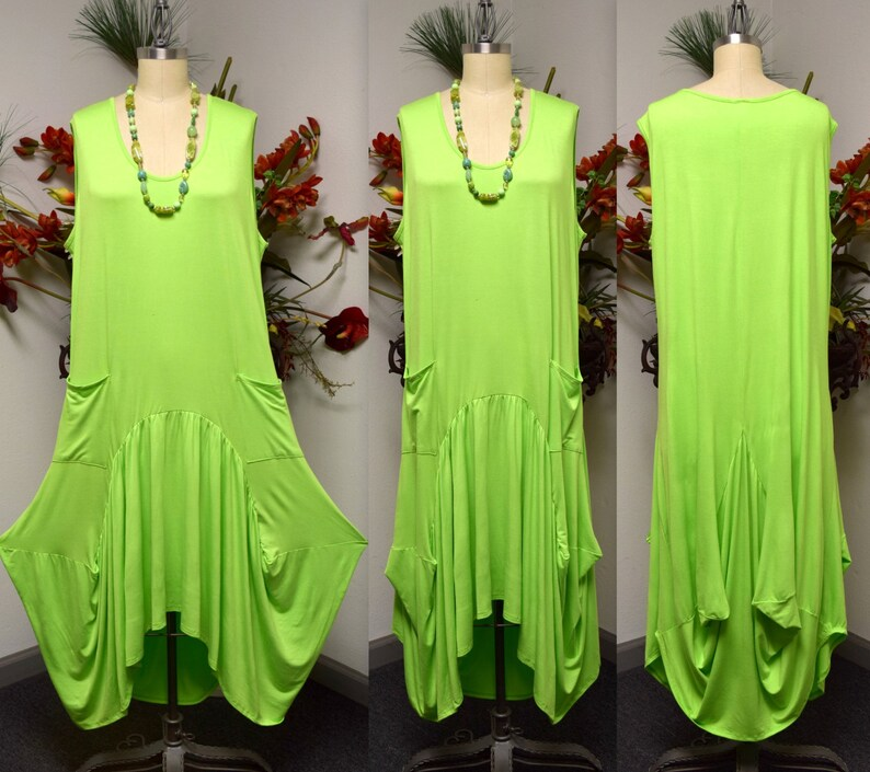 Quirky and Designer Dress 1XL TO 3XL OSFA Lagen look Dress Walkabout Dress Plus size Dress,Hi Low Dress,Maxi Dress