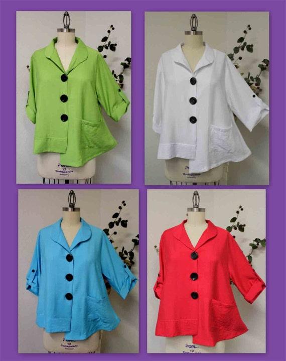and Plus New Medium Cutie blouse Lagenlook Captivating size XL with Blouse blouse Large Asymmetrical 1XL details wSCwHqU6