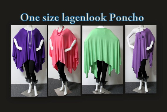 Ultimate Over size lagenlook Poncho in warm and cozy Fleece fabric,One Size