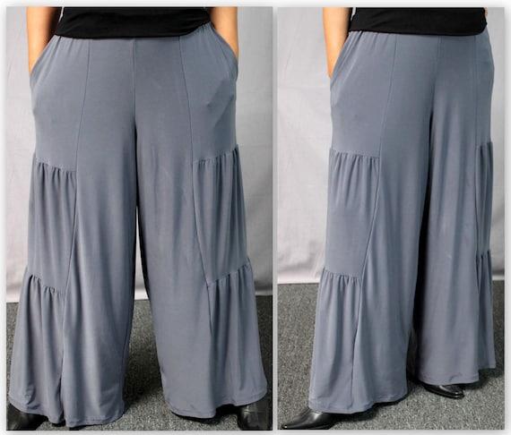 eaf0a5fcb14 New Artistic Plus Size Pnats LagenLook Pants Tiered Pants