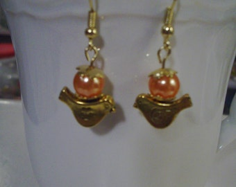 Orange Easter Earrings - Free Shipping