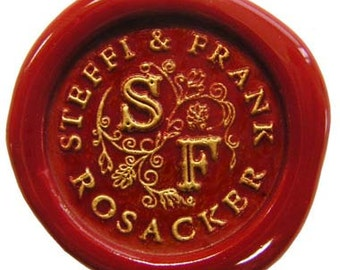 Seal Monogram and Round Text