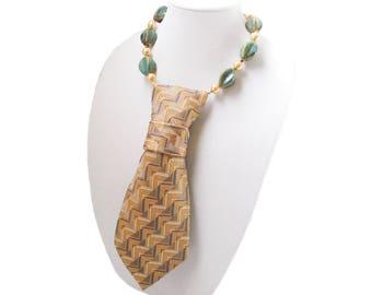 MACY necktie necklace maze tie candee aqua blue feminine necktie modern necktie statement piece corbata collar trending ladies necktie