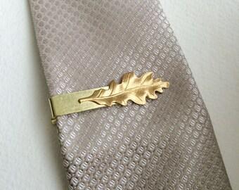Gold Leaf Swirl Tie Clip TT079