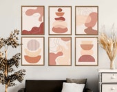 Abstract Geometric Prints Set of 6, Abstract Modern Art, Modern Wall Art, Abstract Shapes Set, Modern Minimalist Decor, Abstract Prints