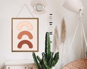 Boho Rainbow Print, Neutral Rainbow, Rainbow wall hanging, Aesthetic Room Decor, Aesthetic wall art, Above bed decor, above bed art