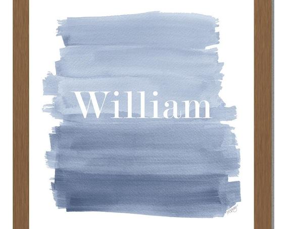 Kids Personalized Denim Blue Wall Decor, 8x10, 11x14
