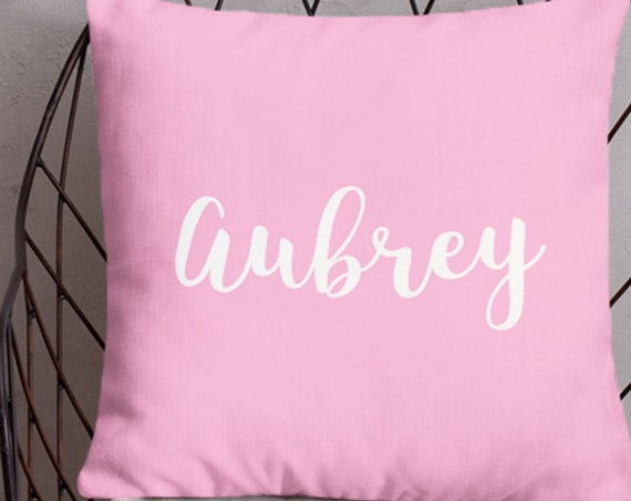 Personalized Name Pillow for Girls, 18x18
