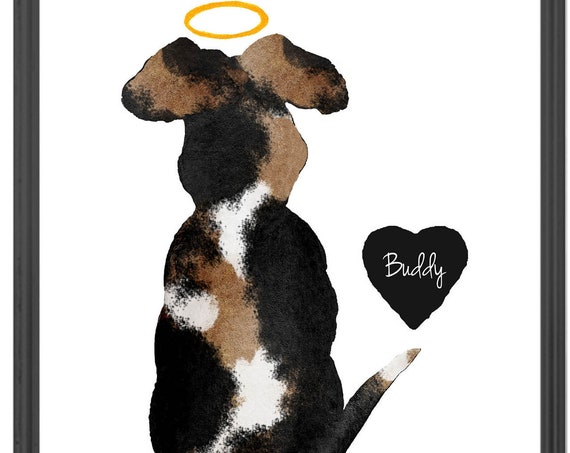 Dog with Halo Personalized Memorial Gift