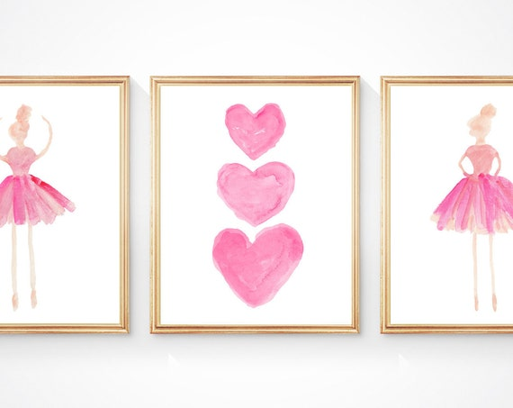 Ballet Dancer Artwork, Set of 3