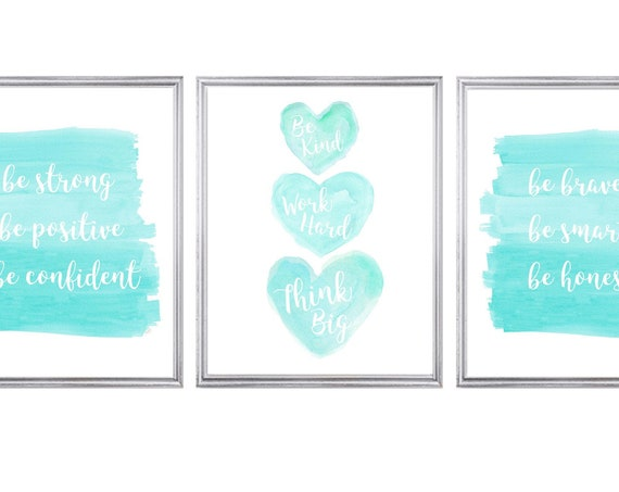 Tween Girl Inspirational Power Prints; Set of 3