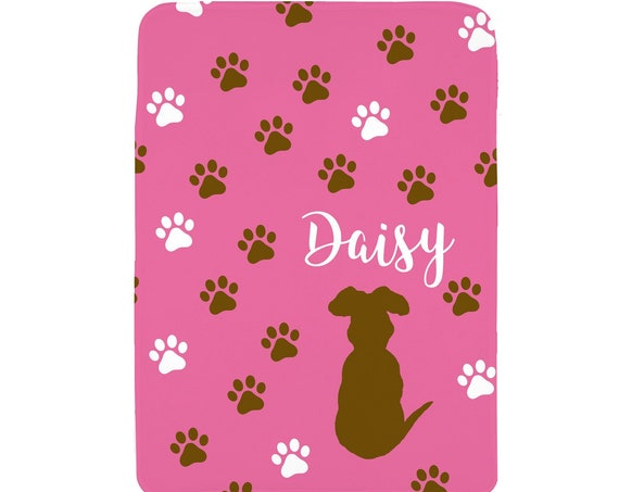 Chocolate Lab Blanket Personalized with Name