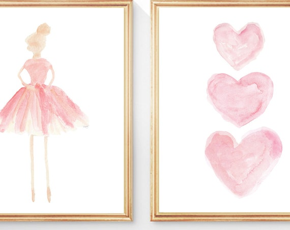 Ballet Prints for Nursery, 8x10 set of 2