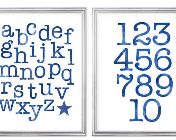 Kids Learning Prints, ABC 123, Set of 2-8x10