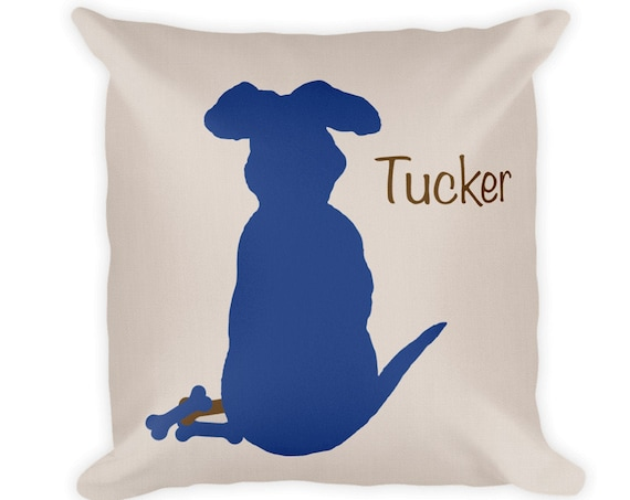 Dog Throw Pillow, 18x18 in 10 Colors