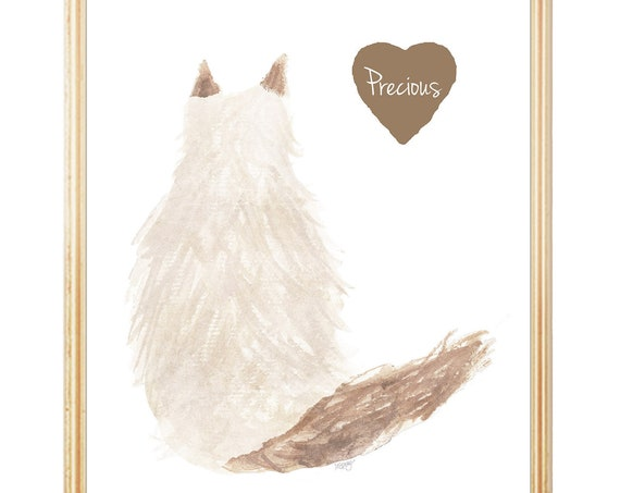 Long Hair Cat Memorial, Persian, Ragdoll, Himalayan, Main Coon, Balinese, Angora, Ragamuffin, Somali, Siberian, Norwegian Forest, Birman