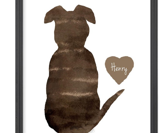 Brindle Dog Print available in 17 Colors