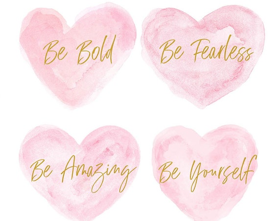 Be Yourself; Girls Inspirational Prints