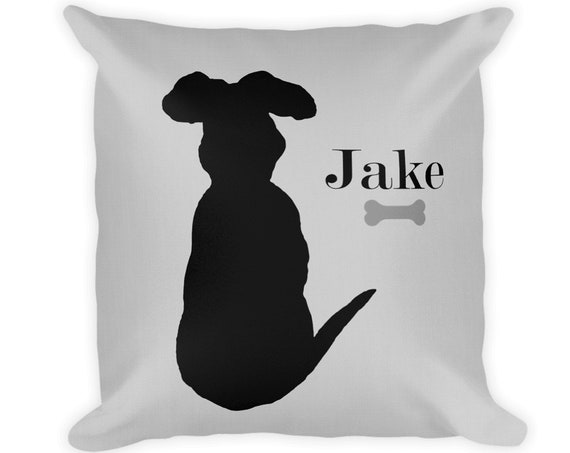 Black Lab Pillow Personalized with Name, 18x18