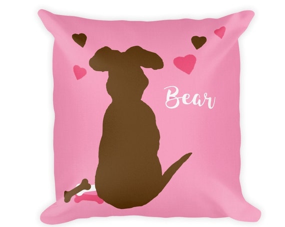 Personalized Dog Pillow for Little Girl, 18x18