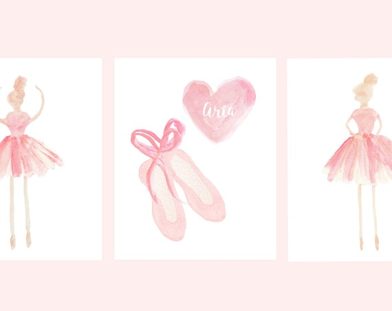 Ballerina Prints with Slippers and Tutus, Set of 3