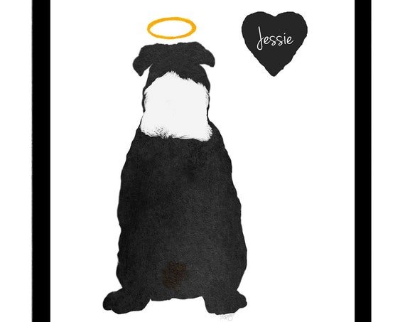 English Bull Dog Memorial: Personalized Pet Loss Print