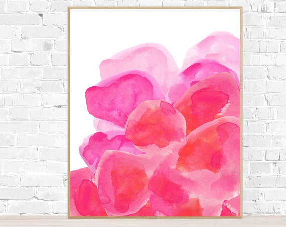 Hot Pink Flower Poster, 16x20