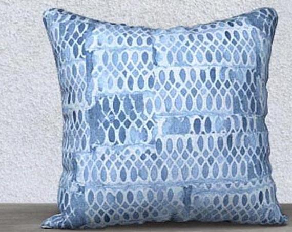 Blue Velvet Accent Pillowcase, 14x20, 18x18