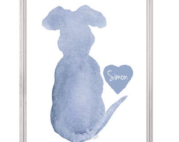 Dog Memorial Gift, 5x7, 8x0