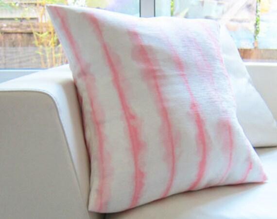 Blush Boho Pillow Cover, 18x18 Watercolor
