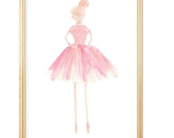 Ballerina Print for Little Girl, 5x7, 8x10