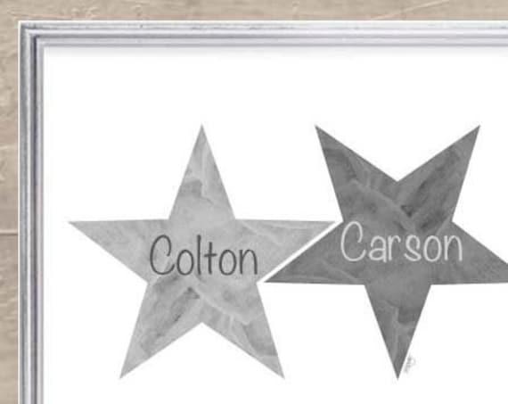Star Print for Boys with Custom Names