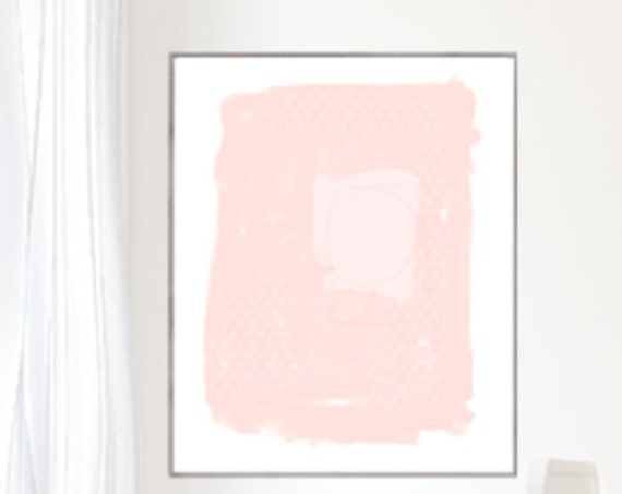 Blush Abstract Art, 16x20 Print for Contemporary Space