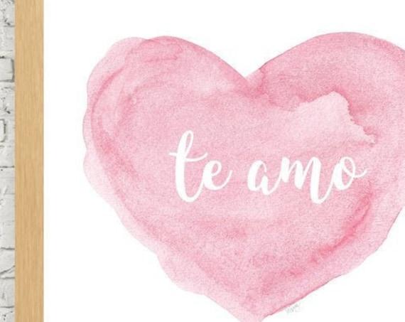 te amo, Spanish Nursery Art, 8x10, 11x14