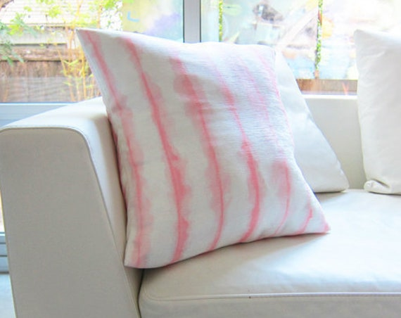 Blush Boho Pillow Cover, 18x18 Watercolor