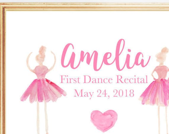Dance Recital Gift, 8x10 Personalized Print