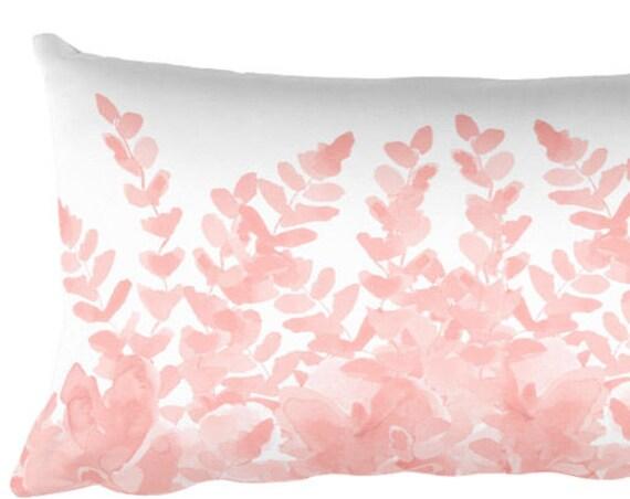 Blush Pillow with Ferns, 12x20