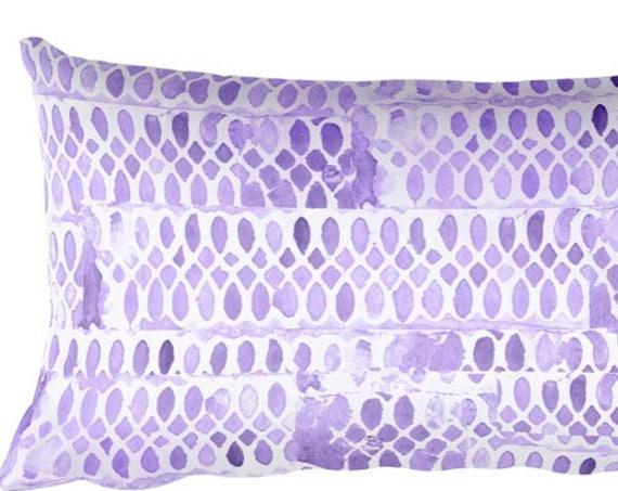 "Purple Throw Pillow, 12""x20"""