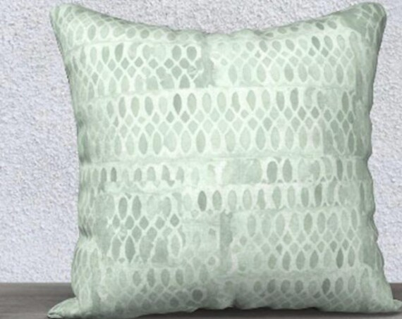"Mint Pillowcase in Velvet, 14""x20"", 18"" x18"""