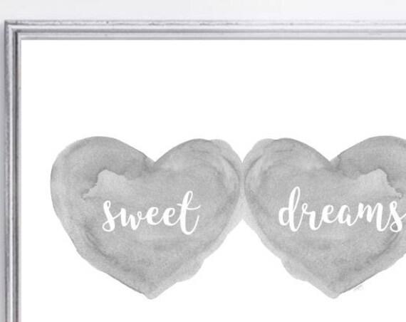 Sweet Dreams Print for Gender Neutral Nursery, 11x14